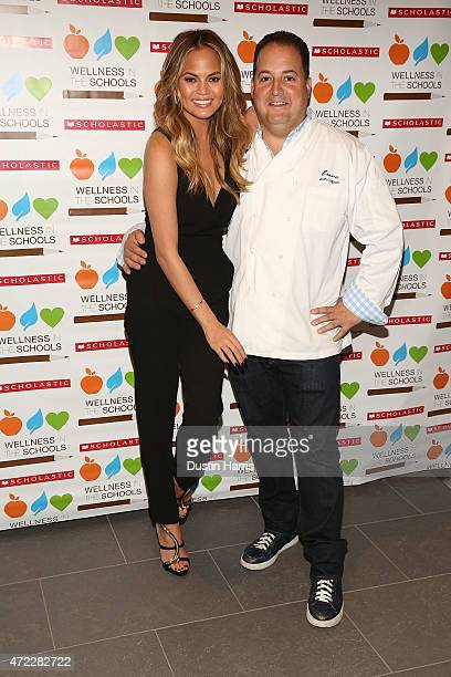Chrissy Teigen and Josh Capon attend the Wellness In The Schools 10th Anniversary Gala at Riverpark on May 5 2015 in New York City
