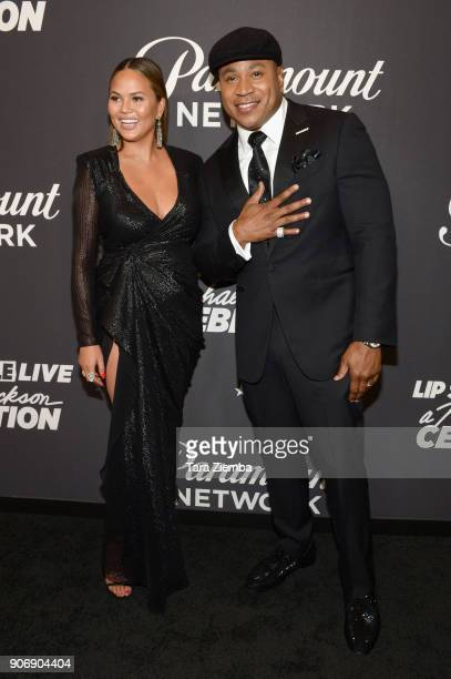 Chrissy Teigen and LL Cool J attend Lip Sync Battle Live A Michael Jackson Celebration at Dolby Theatre on January 18 2018 in Hollywood California