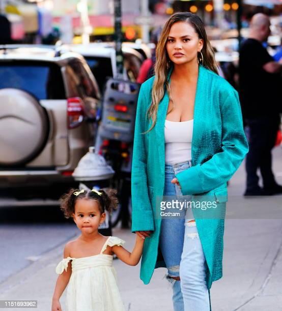Chrissy Teigen and Luna Legend on June 23 2019 in New York City