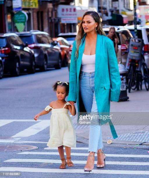 Chrissy Teigen and Luna Legend on June 23, 2019 in New York City.