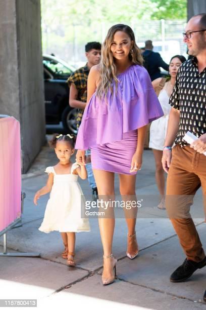 Chrissy Teigen and Luna Simone Stephens on June 23, 2019 in New York City.