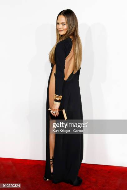 Chrissy Teigen arrives at the 2016 American Music Awards at the Microsoft Theater on November 20 2016 in Los Angeles California EDITORS NOTE Image...