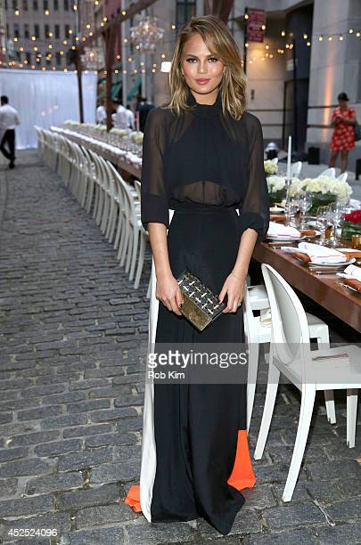 Chrissy Teigen attends Chrissy Teigen And Stella Artois host Belgian National Day Celebration to kick off the launch of The Butcher The Baker The...
