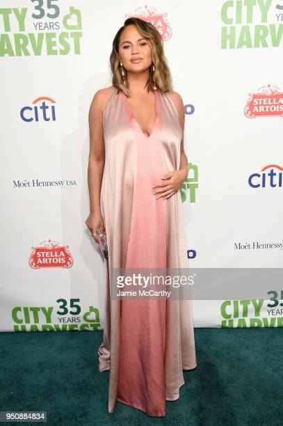 Chrissy Teigen attends City Harvest's 35th Anniversary Gala at Cipriani 42nd Street on April 24 2018 in New York City