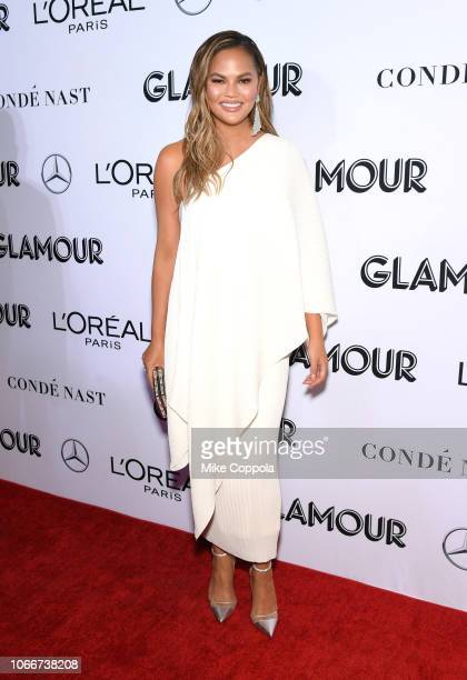 Chrissy Teigen attends Glamour Women of the Year Awards 2018 at Spring Studios on November 12 2018 in New York City