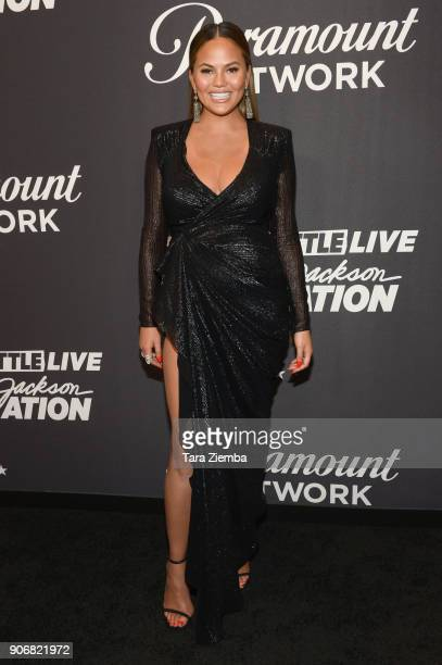 Chrissy Teigen attends Lip Sync Battle Live A Michael Jackson Celebration at Dolby Theatre on January 18 2018 in Hollywood California