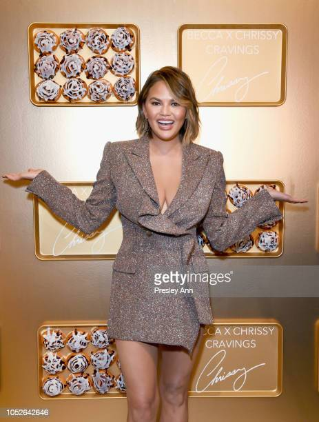 Chrissy Teigen attends SEPHORiA: House of Beauty – Session One at The Majestic Downtown on October 20, 2018 in Los Angeles, California.