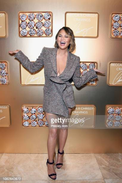 Chrissy Teigen attends SEPHORiA House of Beauty – Session One at The Majestic Downtown on October 20 2018 in Los Angeles California