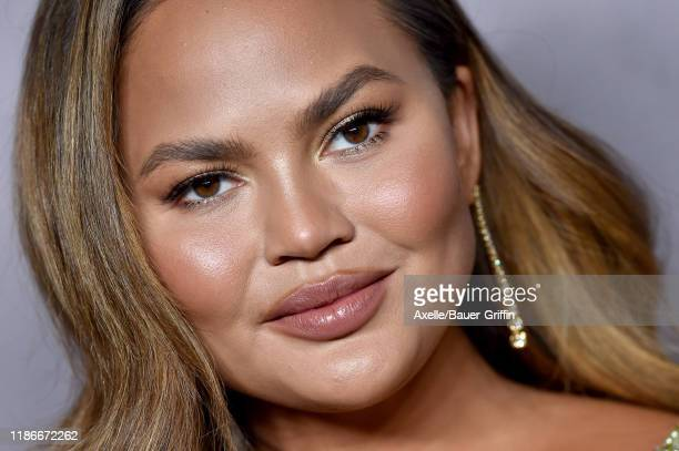 Chrissy Teigen attends the 2019 Baby2Baby Gala Presented By Paul Mitchell at 3LABS on November 09 2019 in Culver City California