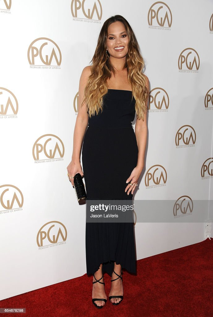 Chrissy Teigen attends the 28th annual Producers Guild Awards at The Beverly Hilton Hotel on January 28, 2017 in Beverly Hills, California.