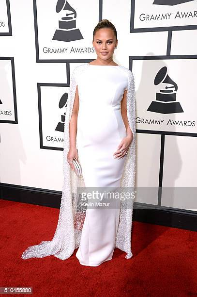 Chrissy Teigen attends The 58th GRAMMY Awards at Staples Center on February 15 2016 in Los Angeles California
