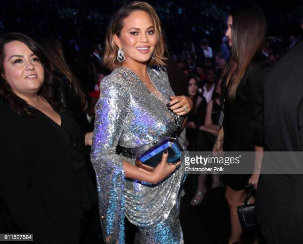 Chrissy Teigen attends the 60th Annual GRAMMY Awards at Madison Square Garden on January 28 2018 in New York City