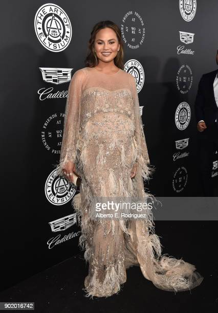 Chrissy Teigen attends The Art Of Elysium's 11th Annual Celebration on January 6 2018 in Santa Monica California