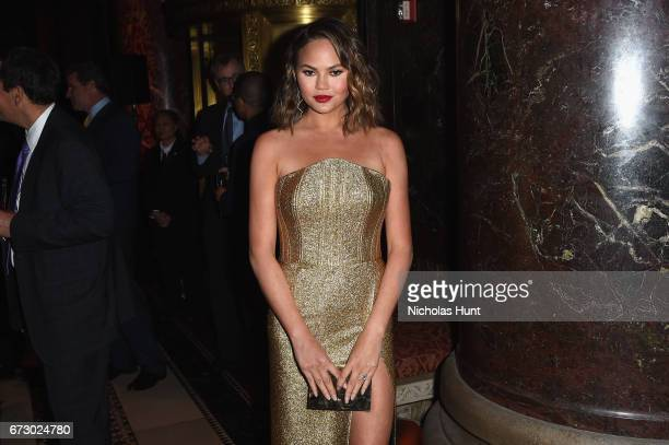 Chrissy Teigen attends the City Harvest's 23rd Annual Evening Of Practical Magic at Cipriani 42nd Street on April 25, 2017 in New York City.