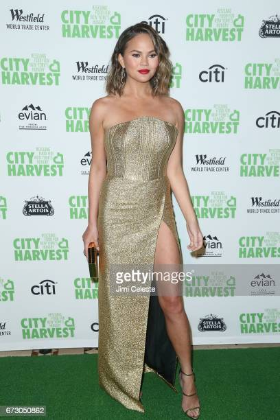 Chrissy Teigen attends the City Harvest's 23rd Annual Gala at Cipriani 42nd Street on April 25 2017 in New York City