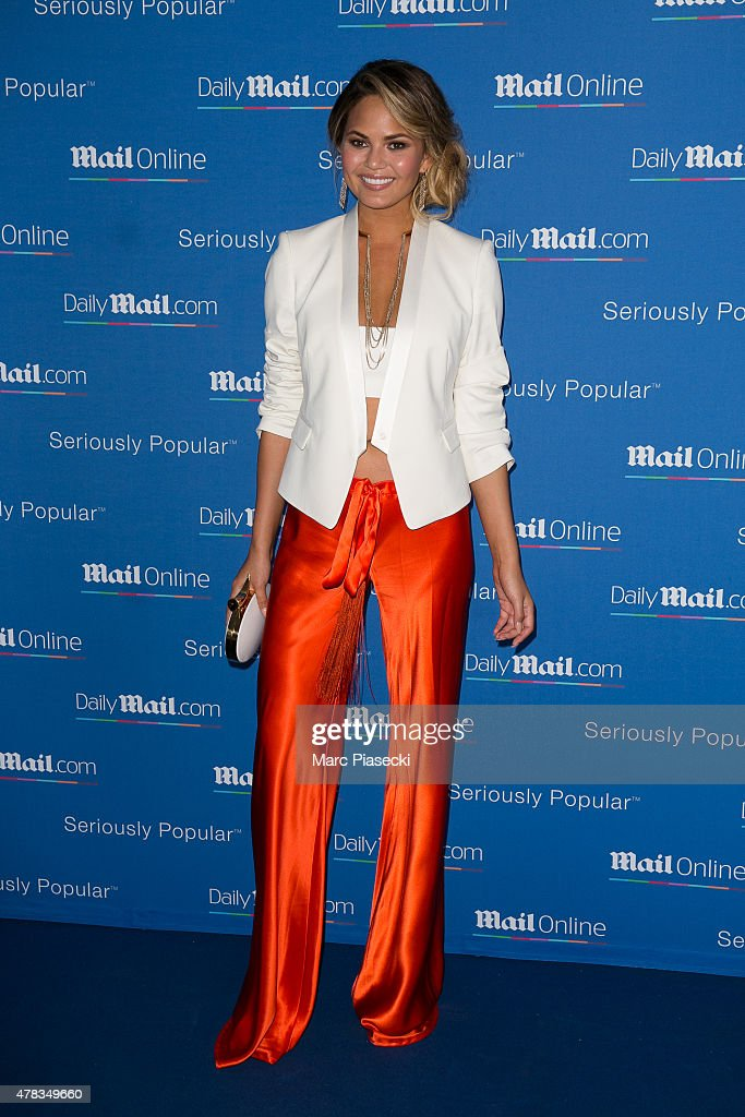 Chrissy Teigen attends the 'DailyMail.com Seriously Popular Yacht Party' on June 24, 2015 in Cannes, France.