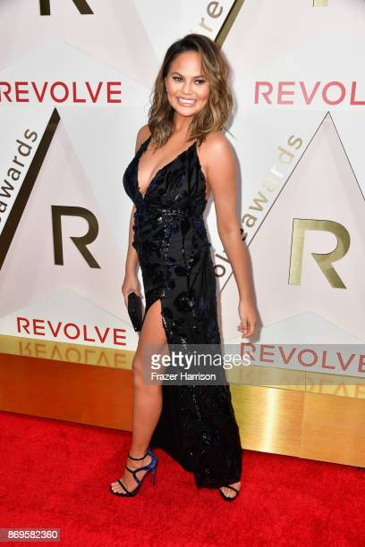 Chrissy Teigen attends the #REVOLVEawards at DREAM Hollywood on November 2 2017 in Hollywood California