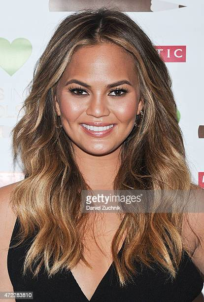 Chrissy Teigen attends the Wellness In The Schools 10th Anniversary Gala at Riverpark on May 5 2015 in New York City