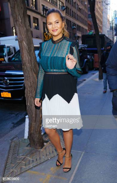Chrissy Teigen departs the Today Show on January 31 2018 in New York City
