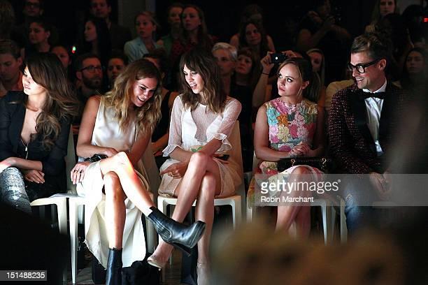 Chrissy Teigen, Erin Wasson, Alexa Chung, Christina Ricci and Brad Goreski attend the Elle Fashion   Next show during Spring 2013 Mercedes-Benz...