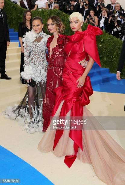 Chrissy Teigen Georgina Chapman and Rita Ora attend the Rei Kawakubo/Comme des Garcons Art Of The InBetween Costume Institute Gala at Metropolitan...