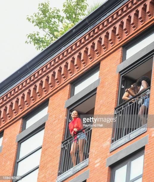 Chrissy Teigen is seen in SoHo on August 20, 2021 in New York City.