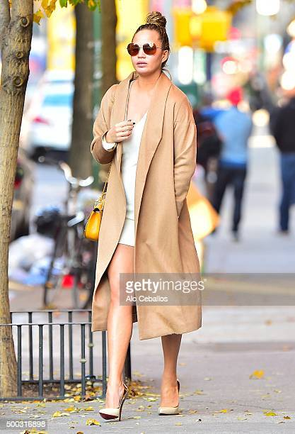 Chrissy Teigen is seen in Soho on December 7 2015 in New York City