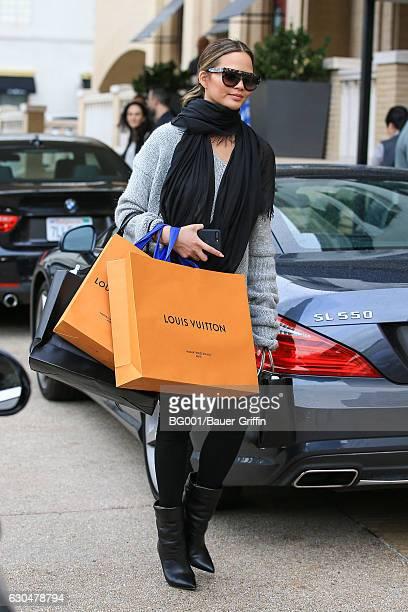Chrissy Teigen is seen on December 23 2016 in Los Angeles California