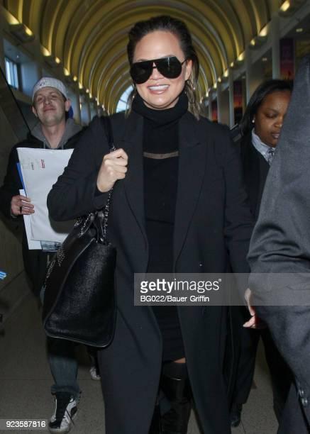 Chrissy Teigen is seen on February 23 2018 in Los Angeles California