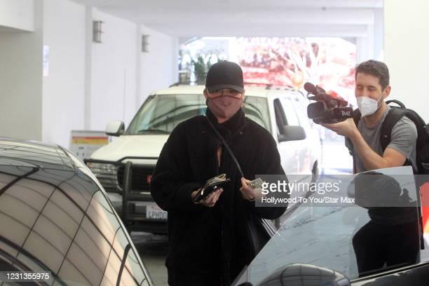 Chrissy Teigen is seen on February 24, 2021 in Los Angeles, California.