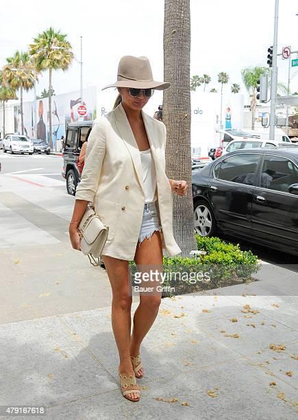 Chrissy Teigen is seen on July 01 2015 in Los Angeles California