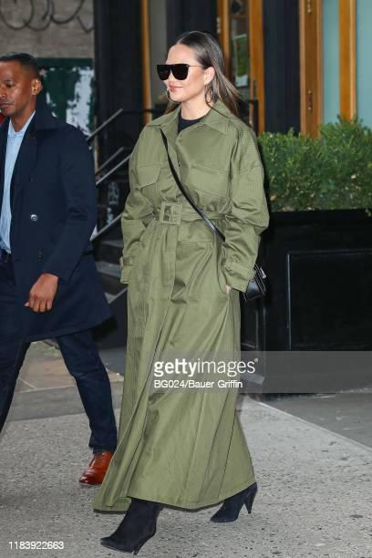 Chrissy Teigen is seen on November 22, 2019 in New York City.