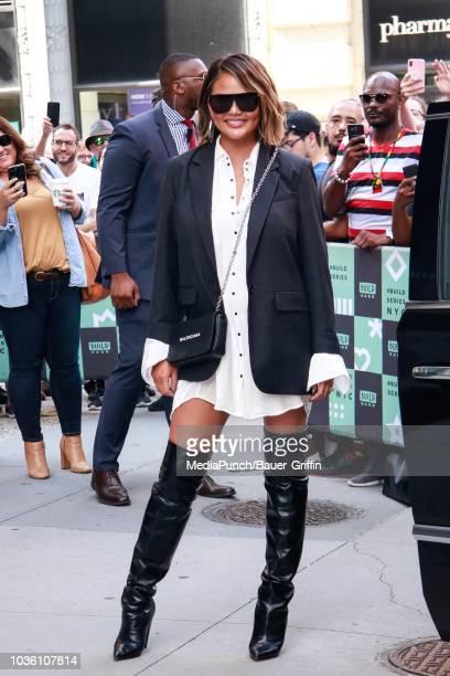 Chrissy Teigen is seen on September 19 2018 in New York City