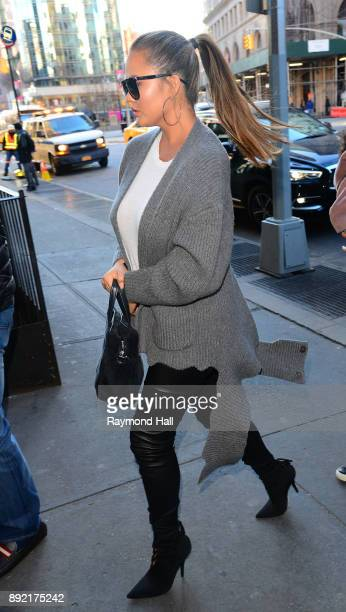 Chrissy Teigen is seen walking in Soho on December 13 2017 in New York City