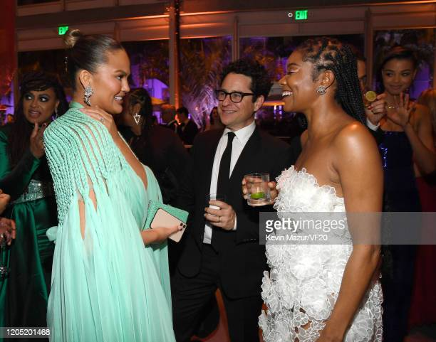 Chrissy Teigen JJ Abrams and Gabrielle Union attend the 2020 Vanity Fair Oscar Party hosted by Radhika Jones at Wallis Annenberg Center for the...