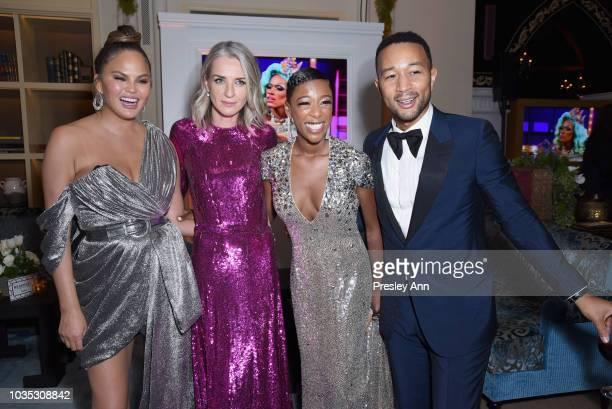 Chrissy Teigen John Legend Ever Carradine and John Legend attend Hulu's 2018 Emmy Party at Nomad Hotel Los Angeles on September 17 2018 in Los...