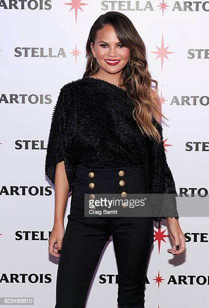 Chrissy Teigen joins Stella Artois to put her personal touch on holiday hosting at the 'King's Feast' celebration on November 15 2016 in New York City