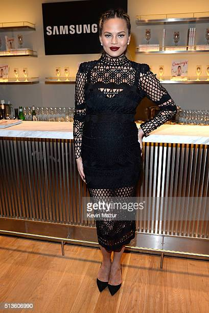Chrissy Teigen launches 'Cravings' at Samsung 837 on March 3 2016 in New York City