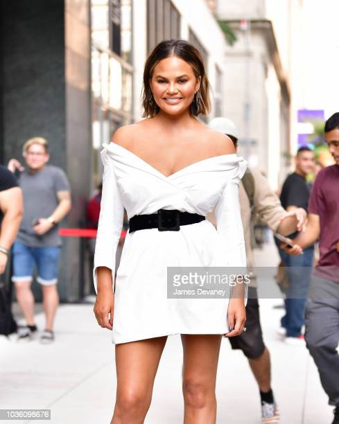 Chrissy Teigen leaves 'Watch What Happens Live' on September 19 2018 in New York City