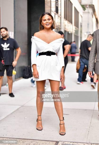 Chrissy Teigen leaves Watch What Happens Live on September 19 2018 in New York City