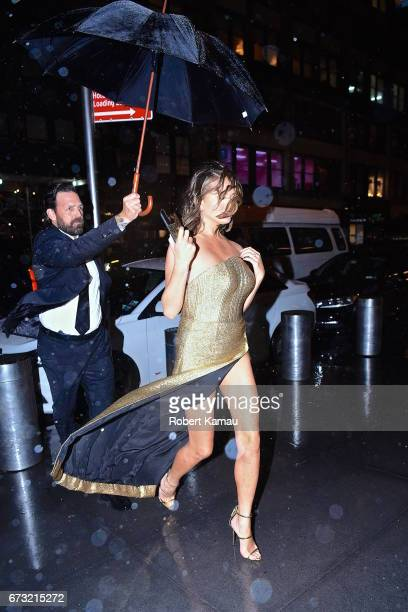 Chrissy Teigen seen in Manhattan after the Time 100 Gala on April 25 2017 in New York City