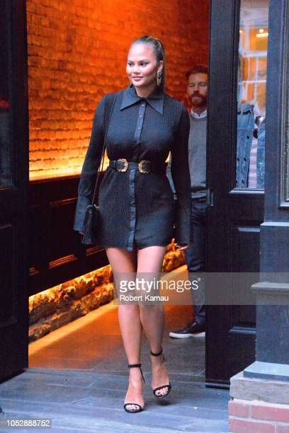 Chrissy Teigen seen out and about in Manhattan on October 23, 2018 in New York City.