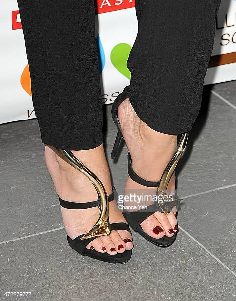Chrissy Teigen, shoe detail, attends Wellness In The Schools 10th Anniversary Gala at Riverpark on May 5, 2015 in New York City.