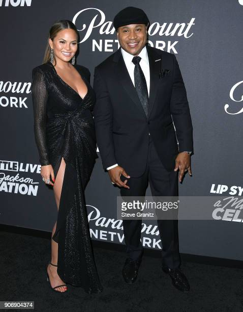 Chrissy TeigenLL Cool J arrives at the Lip Sync Battle LIVE A Michael Jackson Celebration at Dolby Theatre on January 18 2018 in Hollywood California