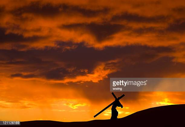 christ and our cross - good friday stock pictures, royalty-free photos & images