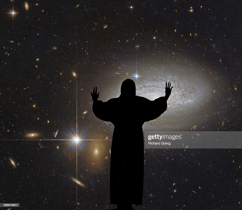 Christ and the Solar System : Stock Photo