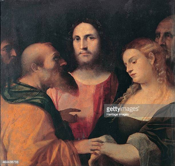 Christ and the Woman Taken in Adultery, 1525-1528. Found in the collection of the Musei Capitolini, Rome.
