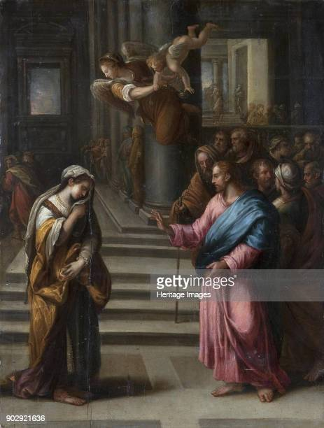 Christ and the Woman Taken in Adultery Found in the Collection of State Hermitage St Petersburg