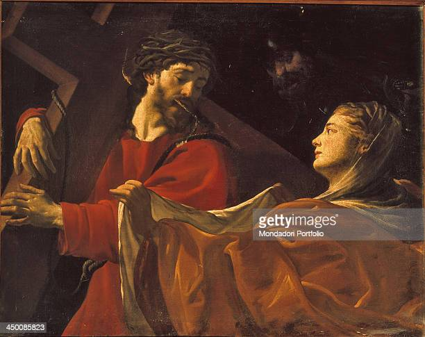 Christ and Veronica by Dutch or French artist 17th Century oil on canvas 104 x 133 cm