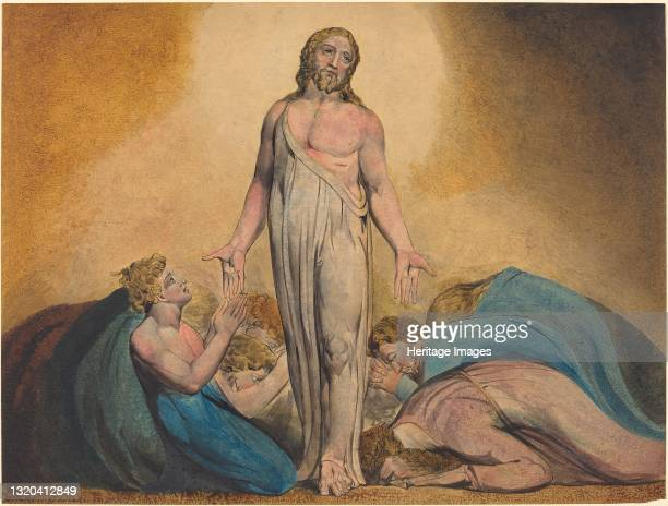 Christ Appearing to His Disciples After the Resurrection, circa 1795. Artist William Blake.